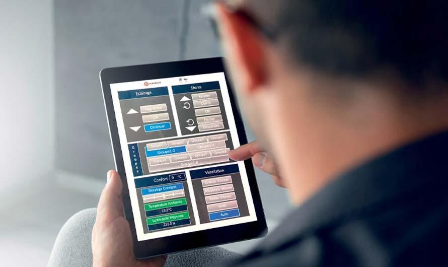 Batiment connecté via des applications sur tablette